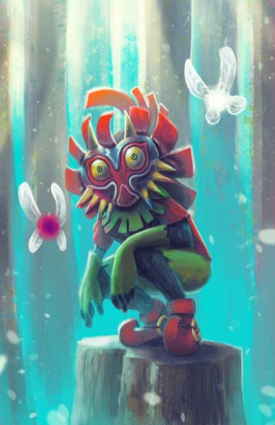 juanapestegui:Skull Kid - Tael and Tatl I'm really excited by the Majora's Mask remake being released so soon! I really loved all the eerie feeling of the game so I had to painted this one.