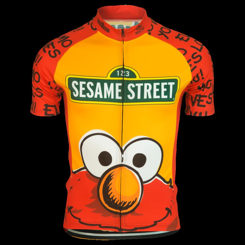 Sesame Street Men/'s Elmo Cycling Short Sleeve Jersey Bike Shirt Bicycle Tops