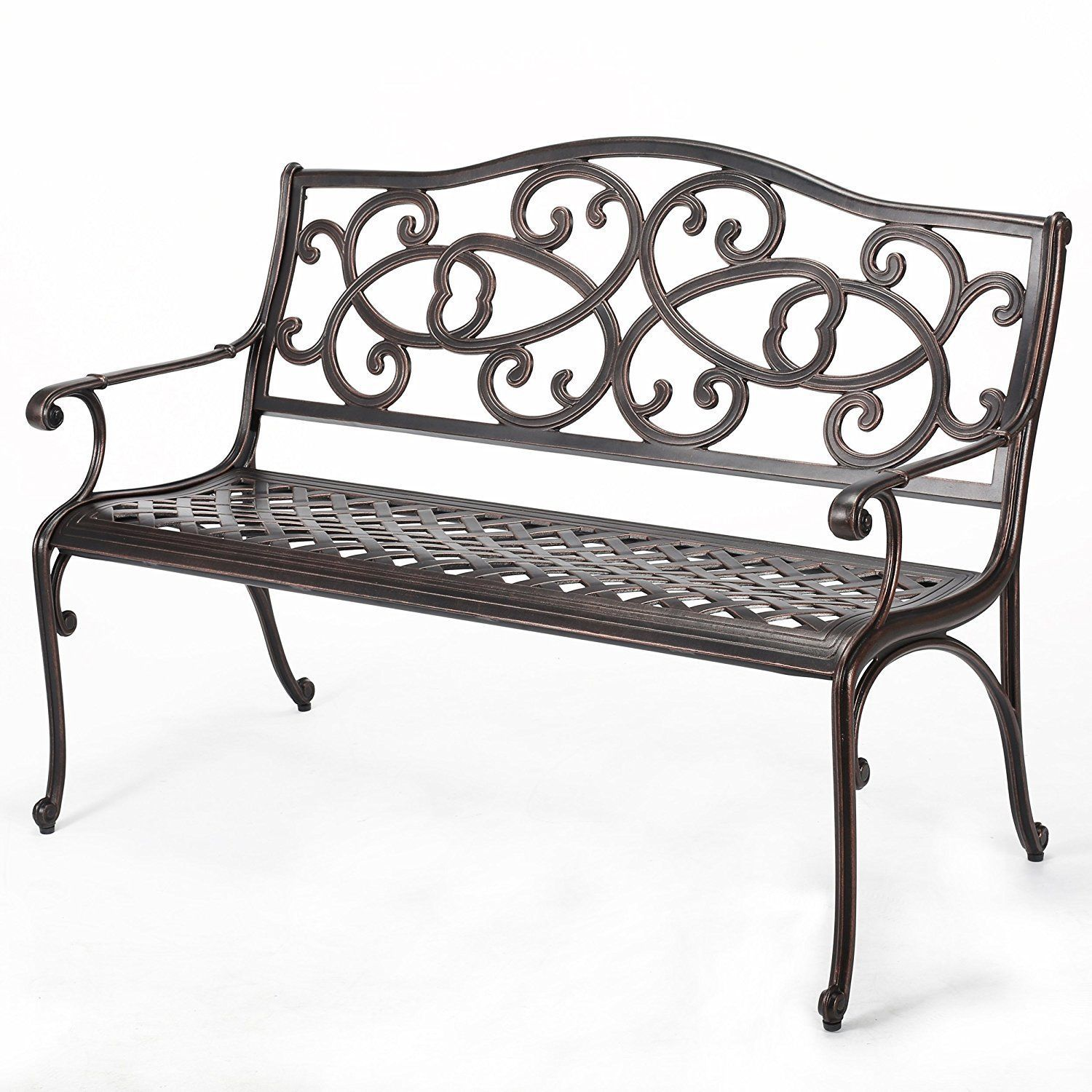 #Cast #Aluminum #Garden #Bench #Outdoor #Home #Patio #Backyard