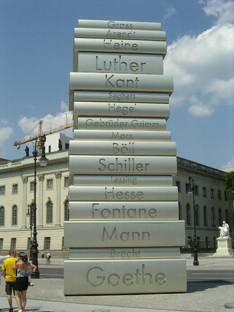 Monument In Berlin Germany A Tribute To Great Authors Photography Berlin Places Travel Berlin Germany Monument Berlin