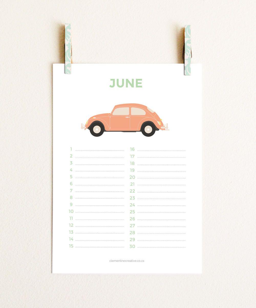Best Images Of Cute Free Printable Birthday Calendar