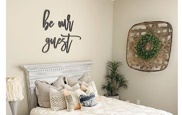 Be our guest  wooden wall art  guest bedroom decor  kitchen | Etsy