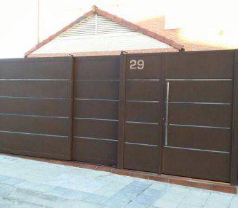 Puerta valla dise o buscar con google port n puertas puertas de hierro y puertas exterior - Vallas de diseno ...