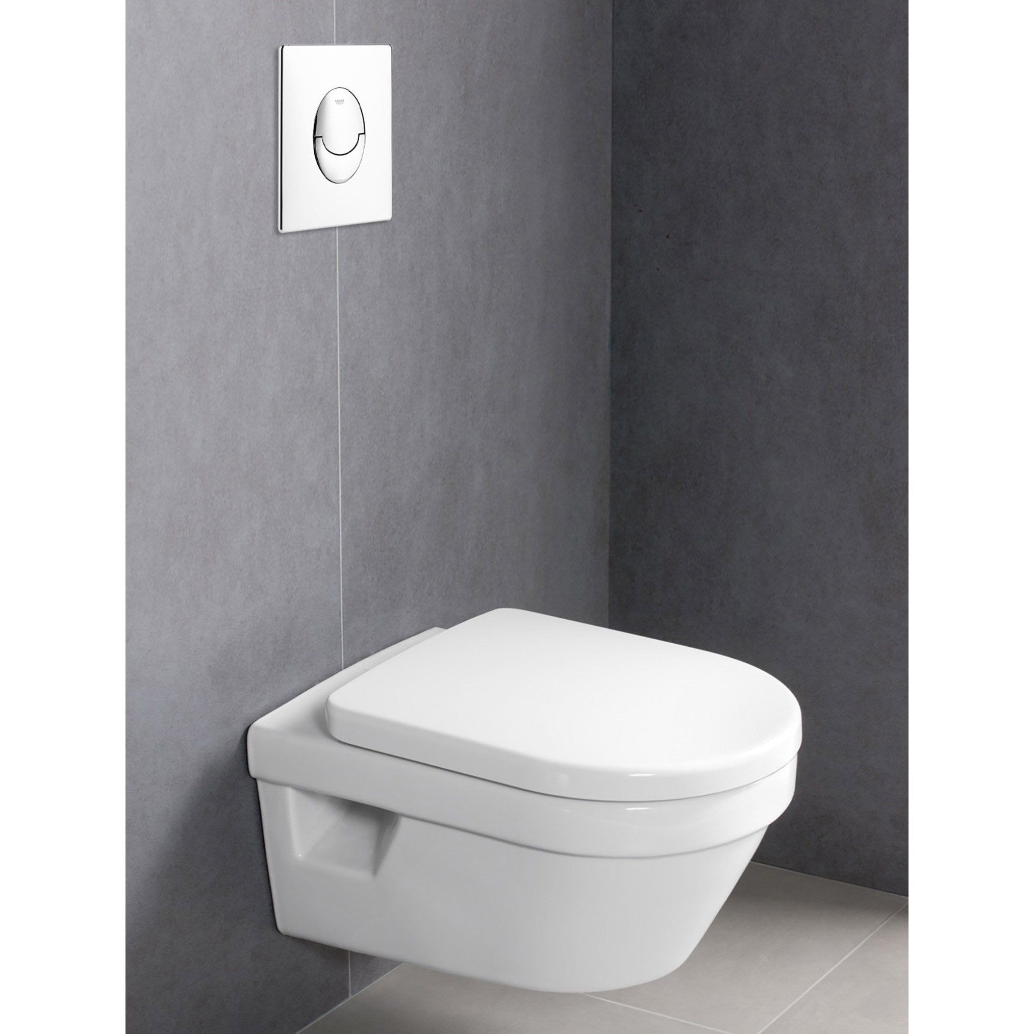 Pack Wc Suspendu Architectura Villeroy Boch Bati Mural Grohe Plaque Blanche En 2020 Pack Wc Suspendu Wc Suspendu Cuvette Wc Suspendu