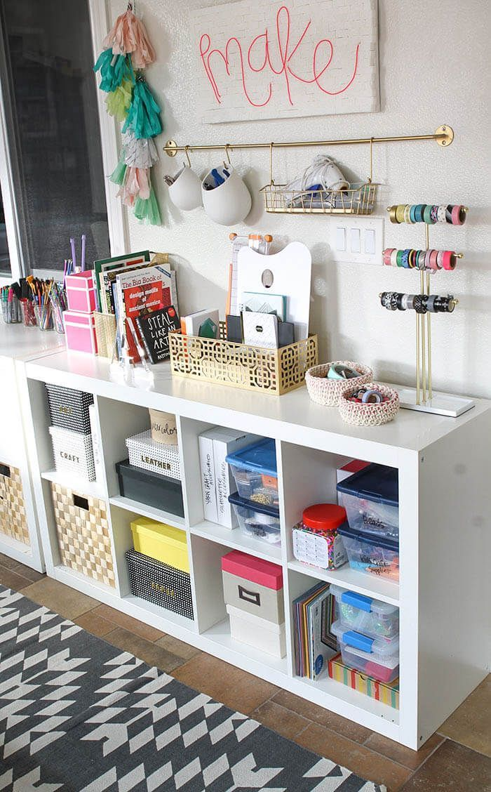 A Colorful And Organized Craft Room   Lots Of Fun Storage Ideas!