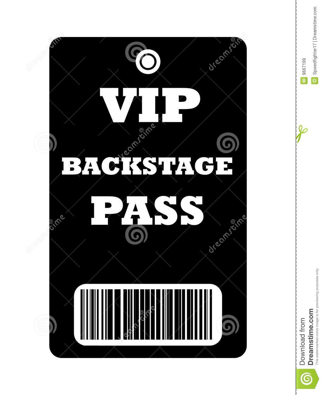 Smart image inside free printable vip pass template