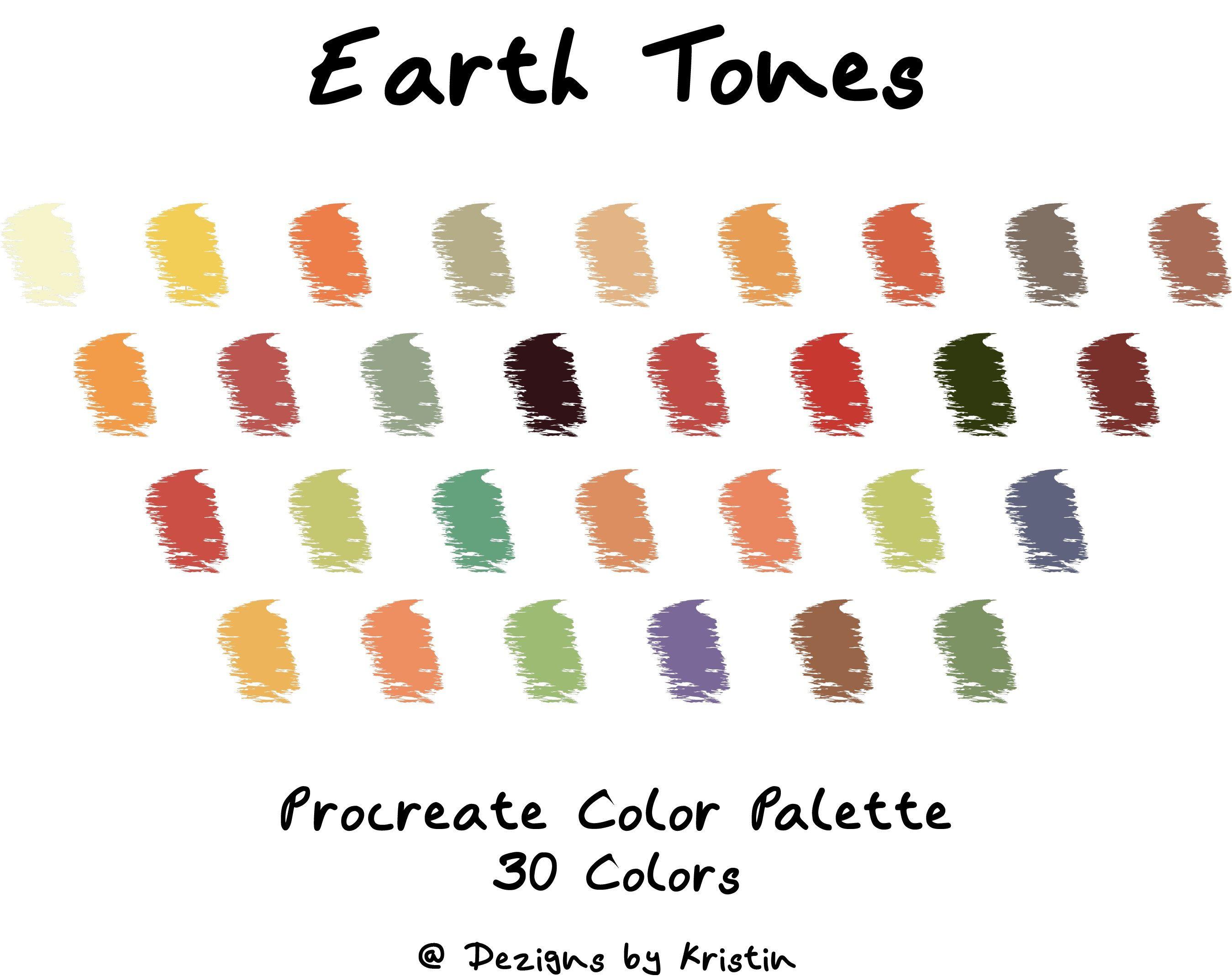 Earth Tones Color Palette Procreate Swatches Color Etsy Sunset Color Palette Earth Tone Colors Color Palette