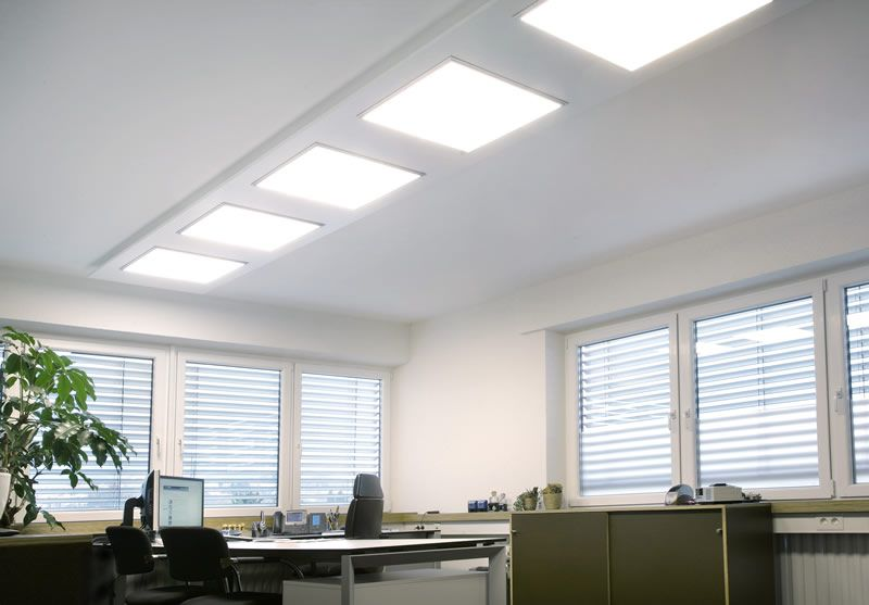 Replace fluorescent #tubes in your office with #LED #Panels - led panel küche