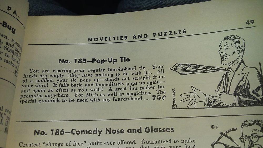 Vintage Pop Up Tie Metal Gimmick Kanter No 185 Antique Magic Trick Gag 50 S Tie Gimmicks Pop Up