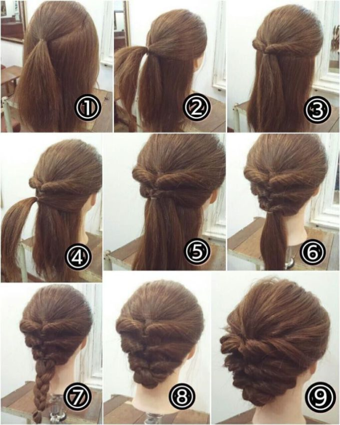 21 Super Easy Updos For Beginners Drawing Materials Hair Long
