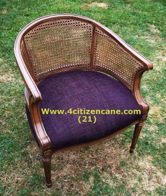 Exceptional Need To Find   Barrel Style Cane Back Chair