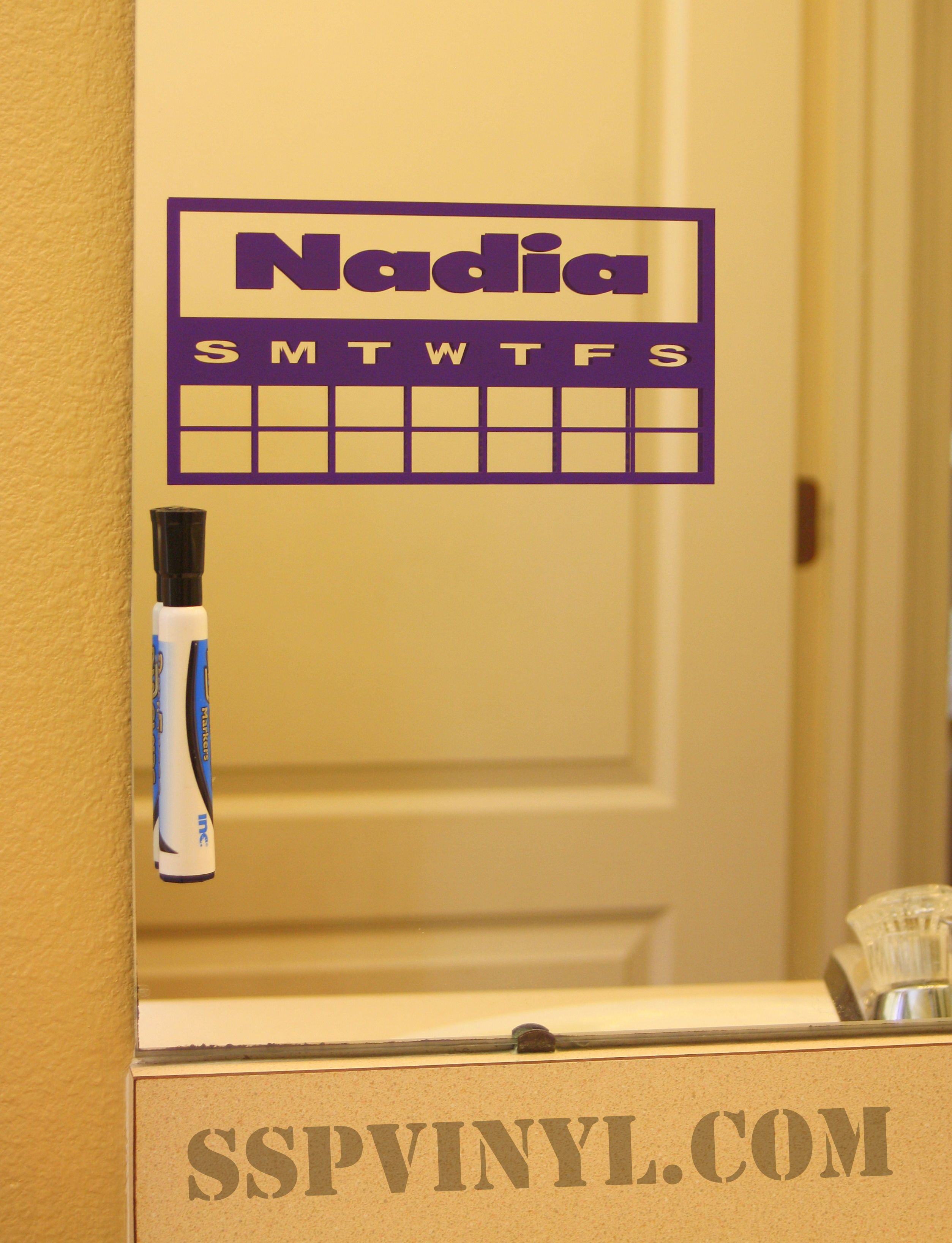 Teeth Brushing Charts That Stick To The Mirror In The Bathroom - How to make vinyl decals stick