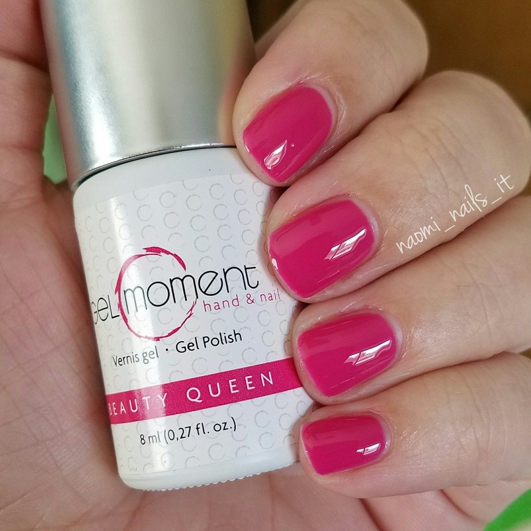Queen Gel Nail Polish: GelMoment Beauty Queen Is A Super Hot Pink Nail Color