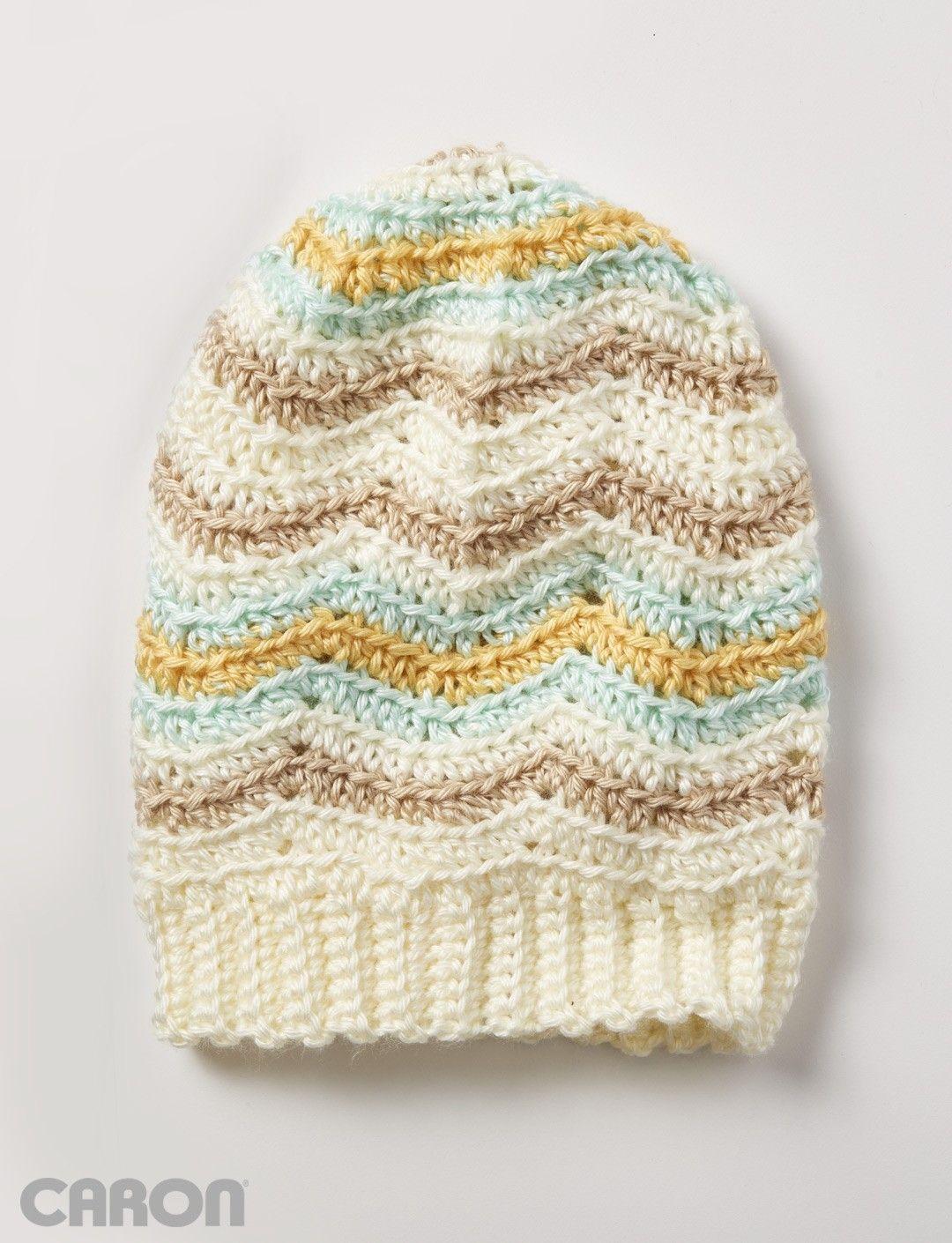 Yarnspirations.com - Caron Zig Zag Hat Free Pattern | Yarnspirations ...