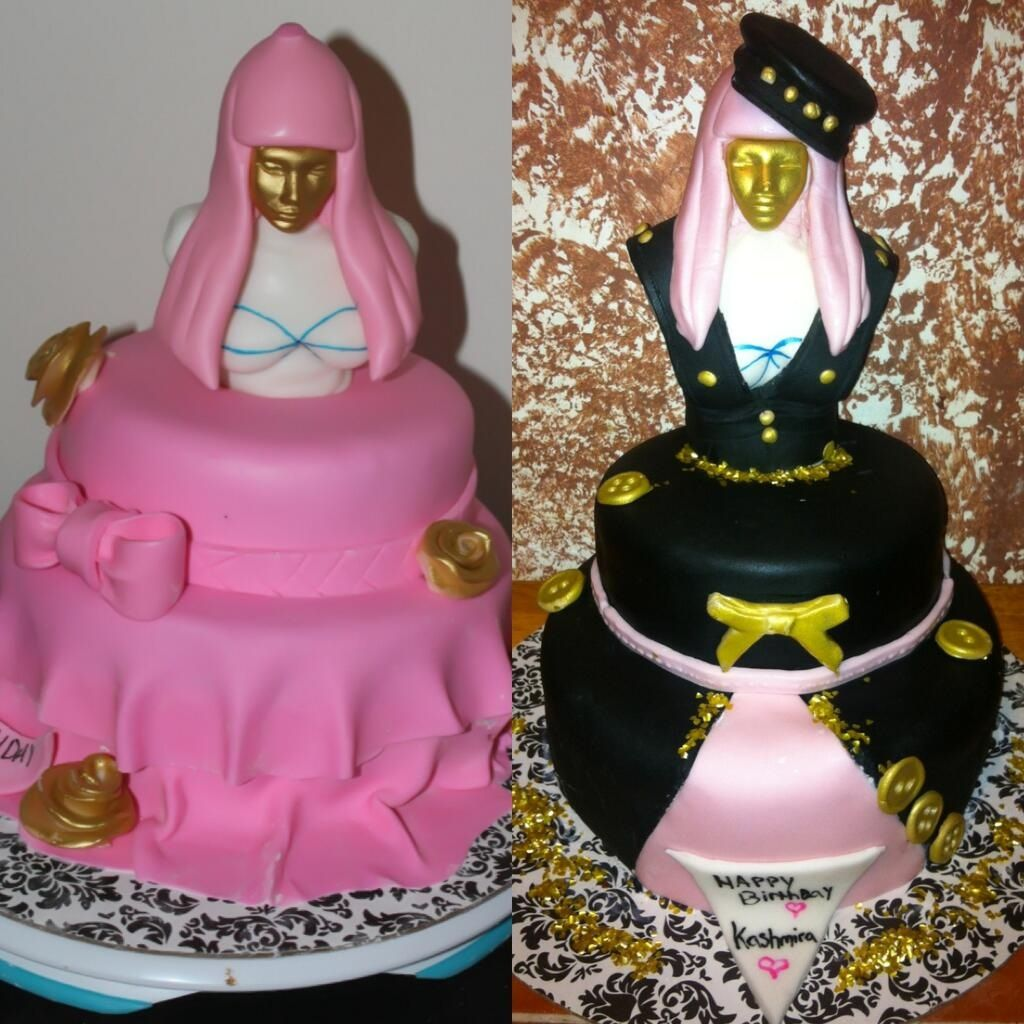 Excellent Nicki Minajs Pink Friday Fragrance Inspired Cakes With Images Personalised Birthday Cards Paralily Jamesorg