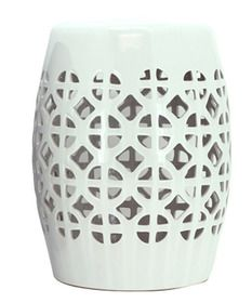 Amazing Lattice Stool Side Table White from Lifestyle Home and Living