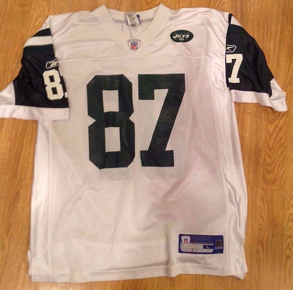 New York Jets LAVERANUES COLES Reebok White NFL Football Jersey - Adult  LARGE  Reebok  NewYorkJets 43e3be62e