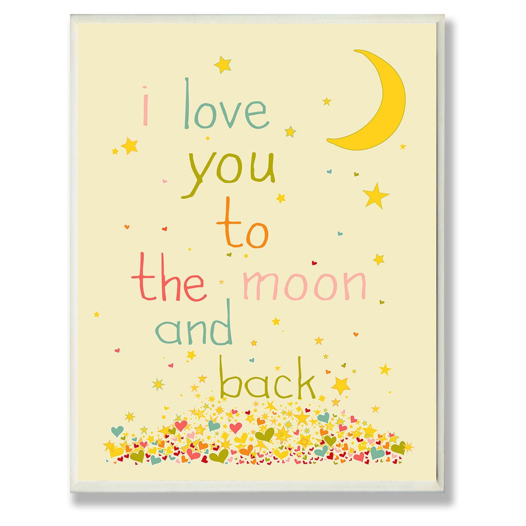 Stupell Decor I Love You To The Moon And Back Wall Plaque - BRP ...