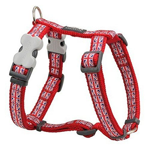 Red Dingo Union Jack Small Dog Harness Chest 14 21 In 3654 Cm