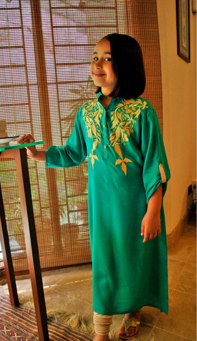 Green/White Lawn Dress $34.99 GIRLS CASUAL DRESSES Pakistani Indian ...