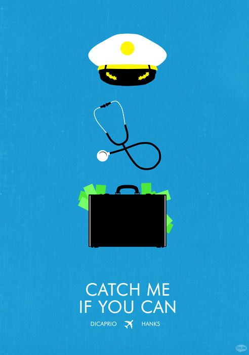 Catch Me If You Can 2002 Starring Leonardo Dicaprio As Frank Abagnale Jr Tom Hank Movie Posters Minimalist Film Posters Minimalist Minimal Movie Posters