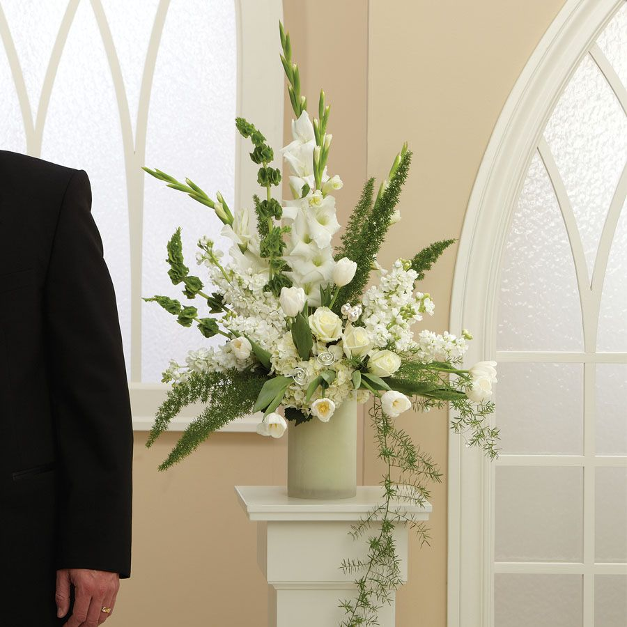Wedding Altar Flowers Photo: Altar Arrangement