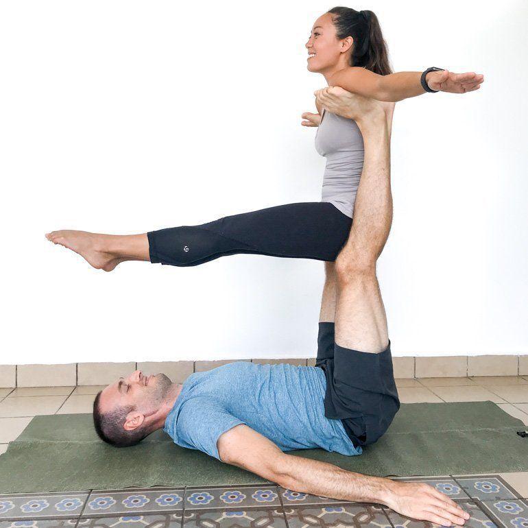 Couple S Yoga Poses 23 Easy Medium Hard Yoga Poses For Two People Couples Yoga Poses Yoga Poses For Two Hard Yoga Poses
