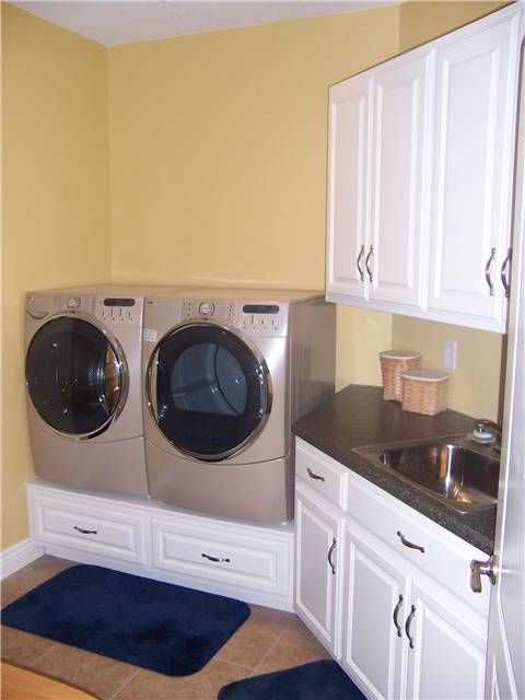 Drawers Under Washer Dryer For The Home Laundry Room Art