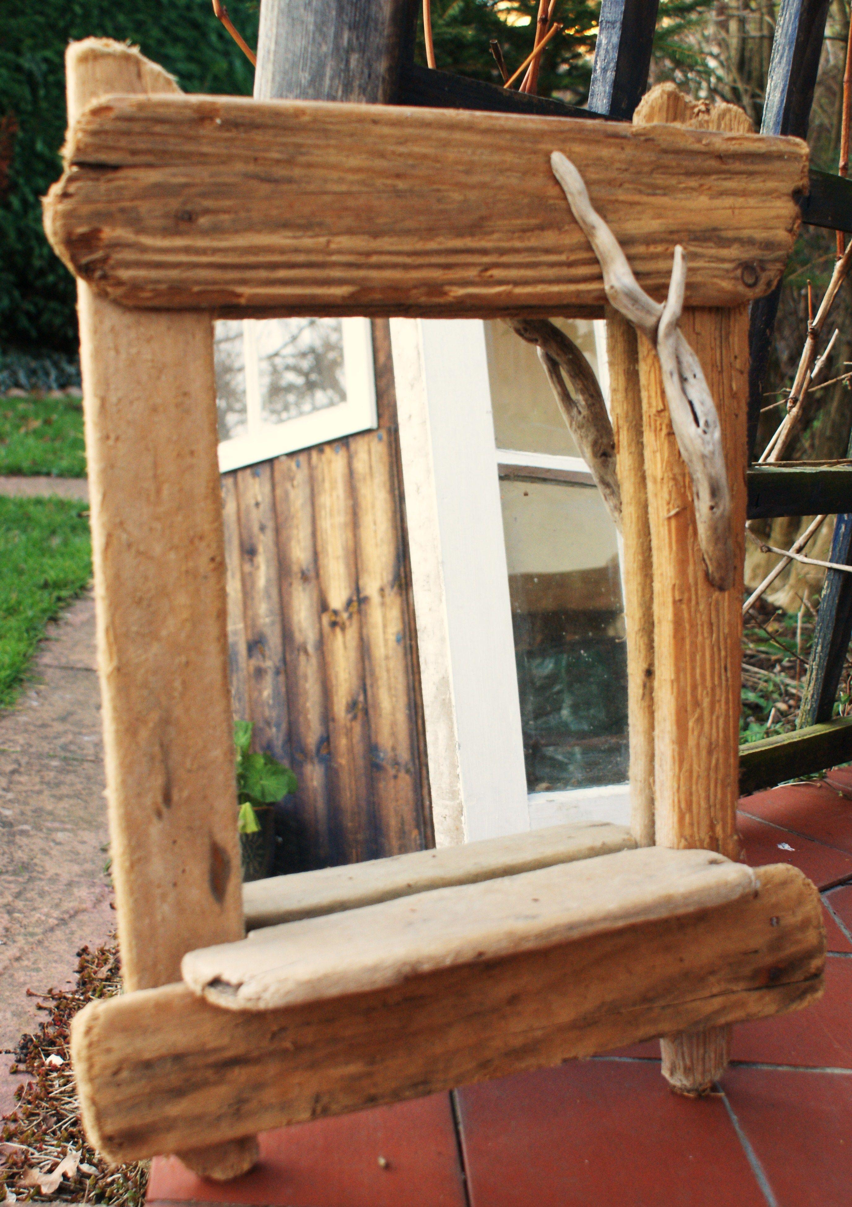 Driftwood mirror could make it my chalk board message for Decoracion hogar nou centre
