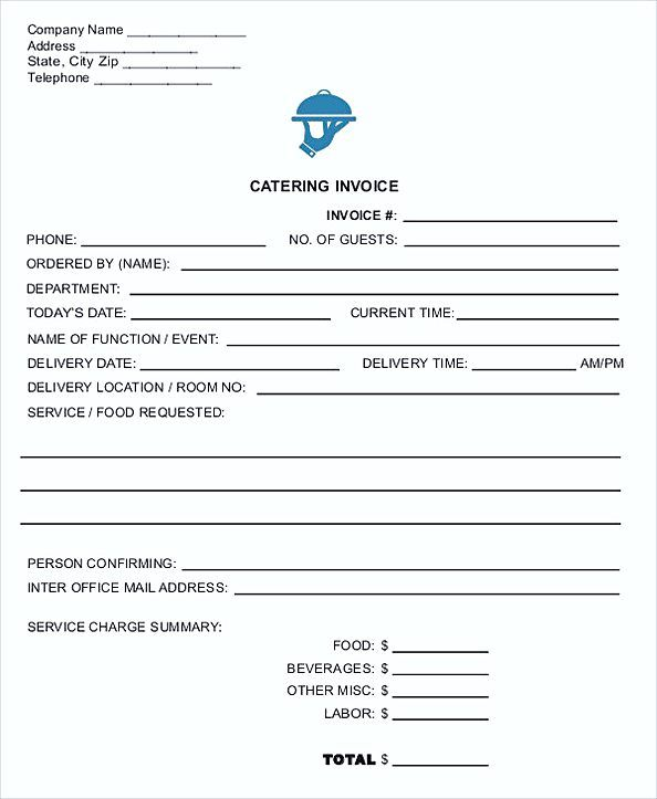 catering invoice template pdf  Catering Invoice in PDF , Contractor Invoice Template , Tips to make ...