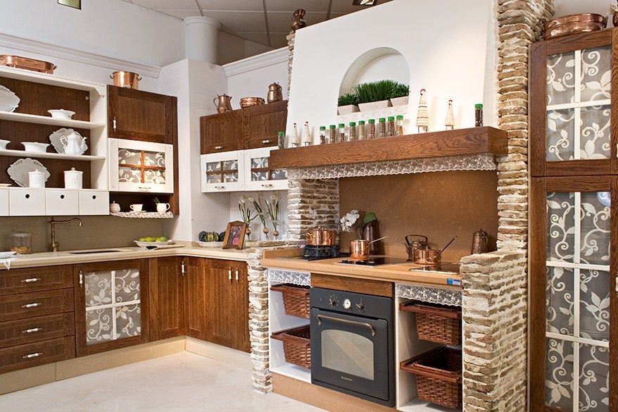 Cocina rustica madera ladrillo sevilla 878 for Ver cocinas rusticas