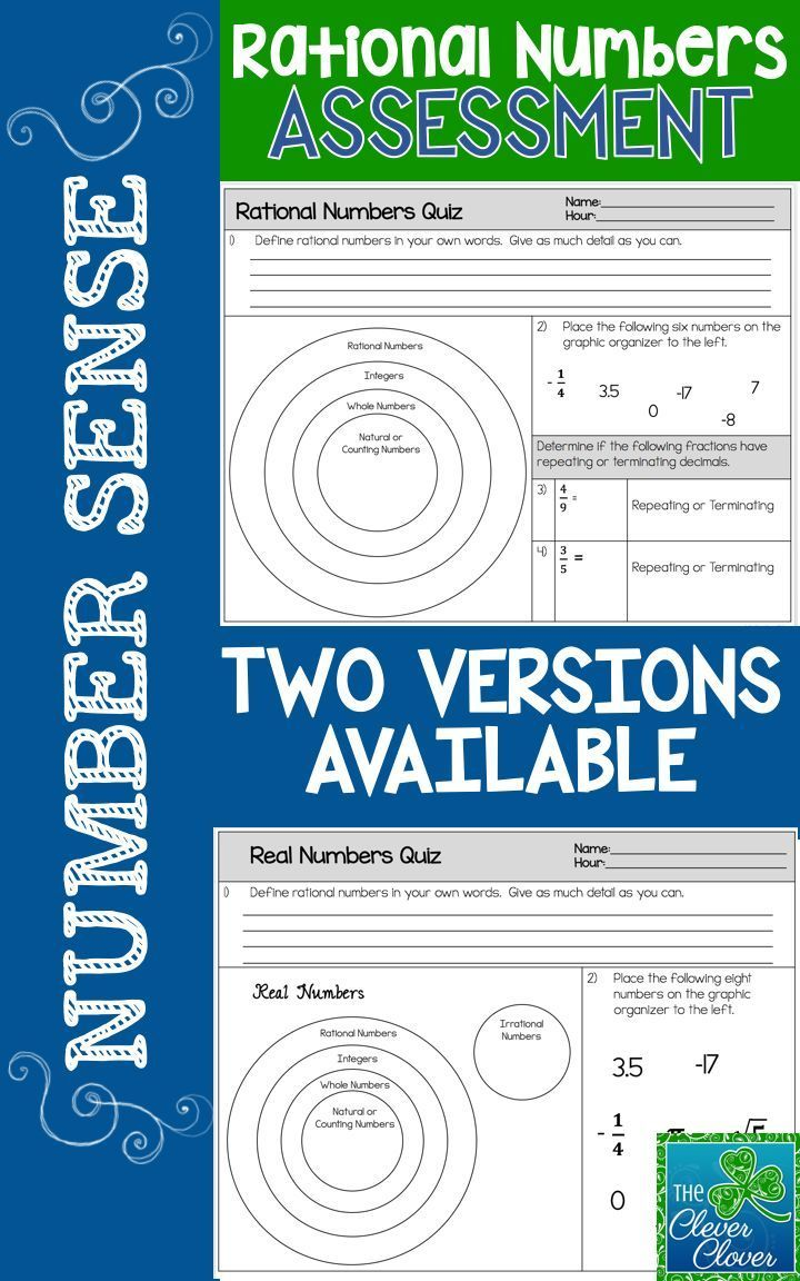 Rational and Irrational Numbers Define and Classify
