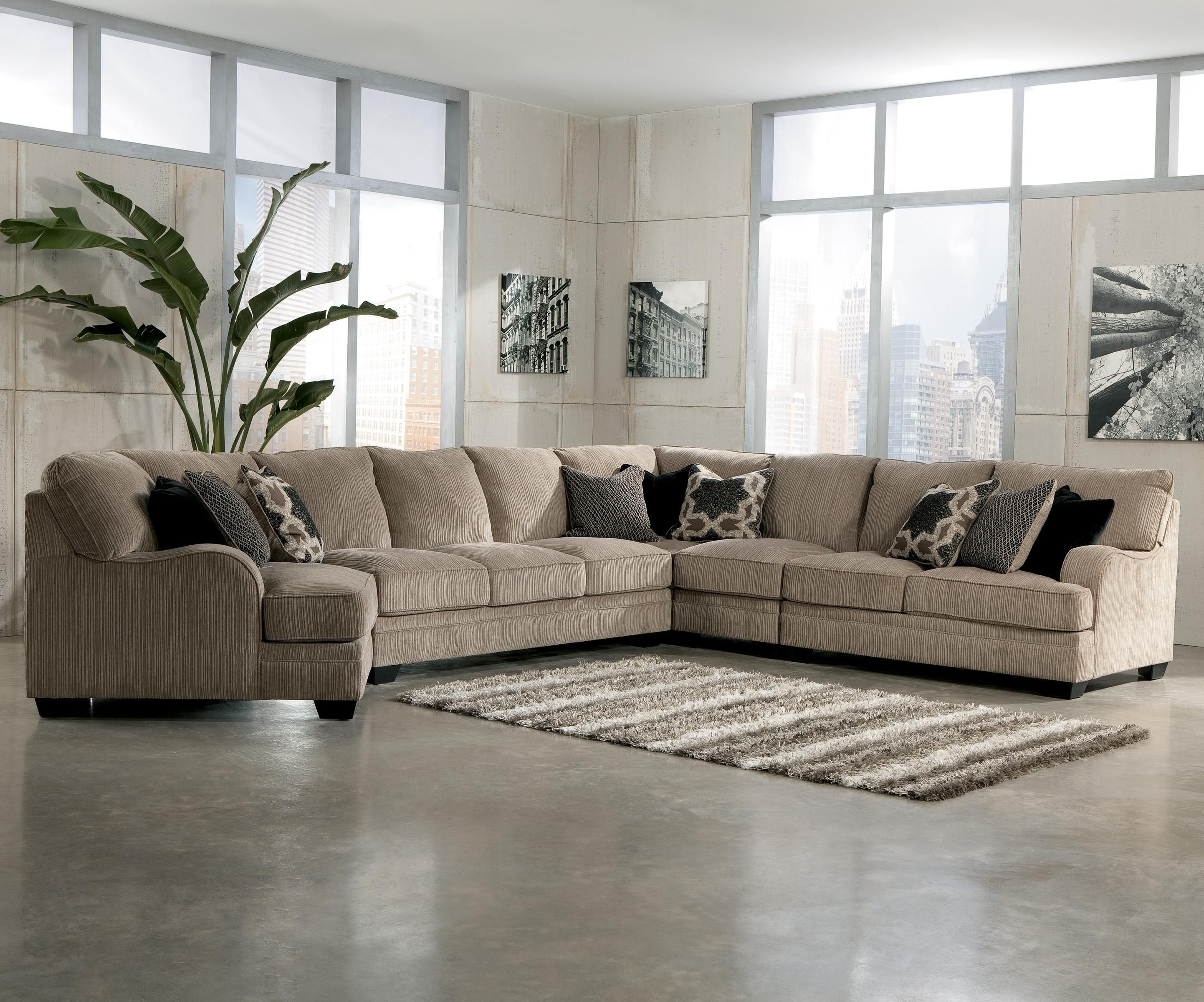 Katisha Platinum 5 Piece Sectional Sofa with Left Cuddler by