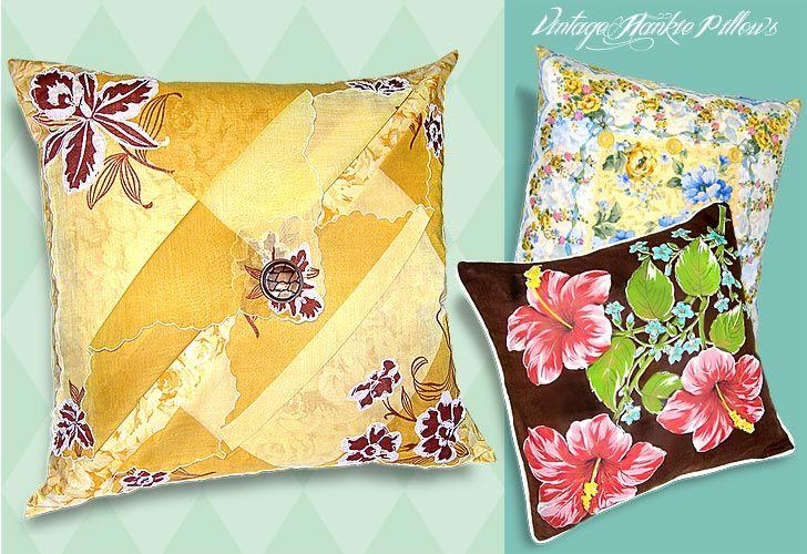 Pillows from old handkerchiefs