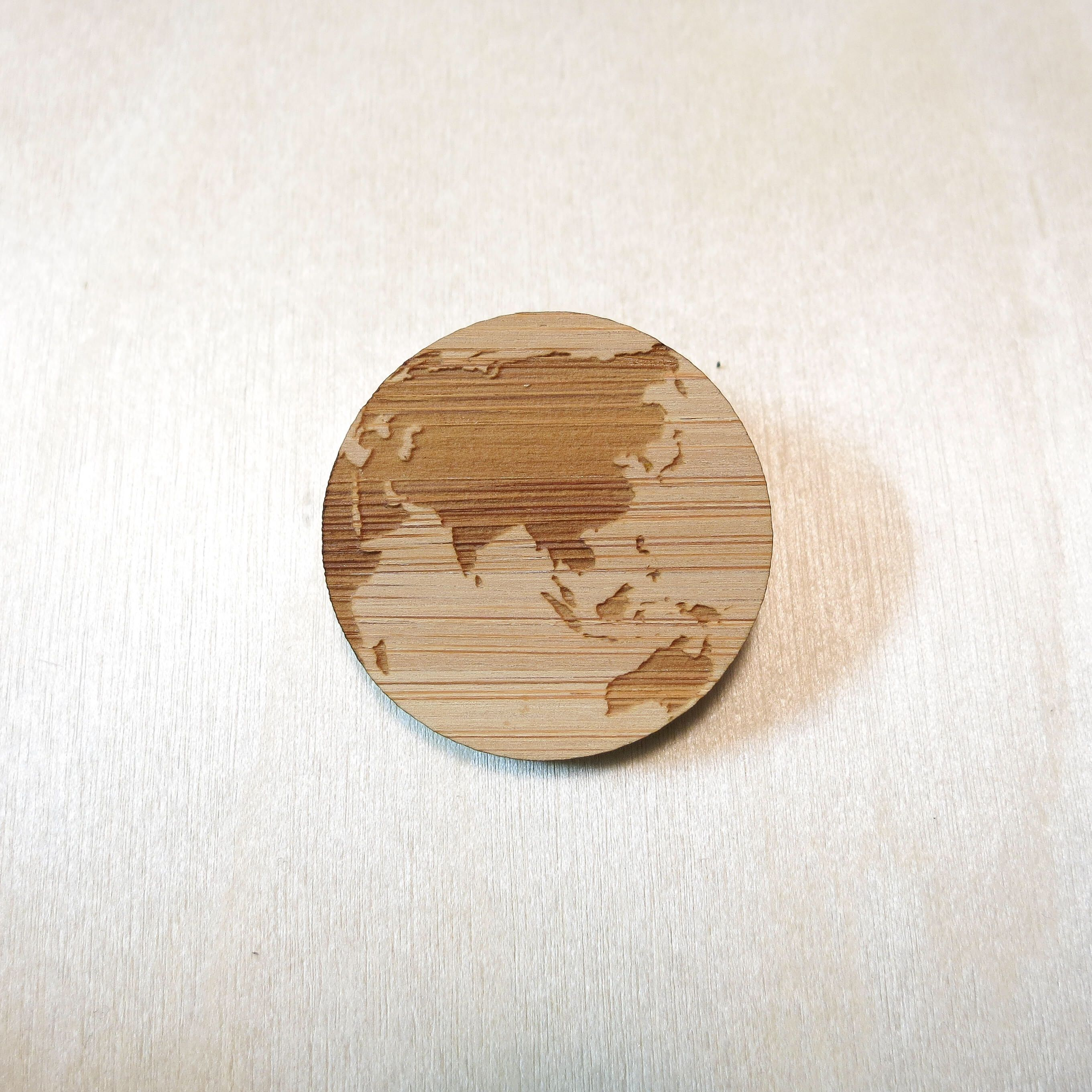Asia pin australia brooch oceania pin world map pin eco friendly asia pin australia brooch oceania pin world map pin eco friendly bamboo eco jewellery wood brooch wood pin sustainable jewelry laser cut map gumiabroncs Images