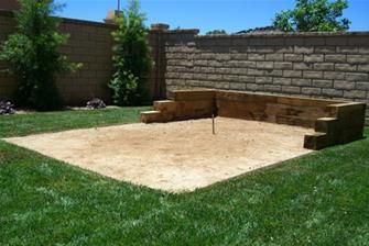 Horseshoe pit for our side yard :)