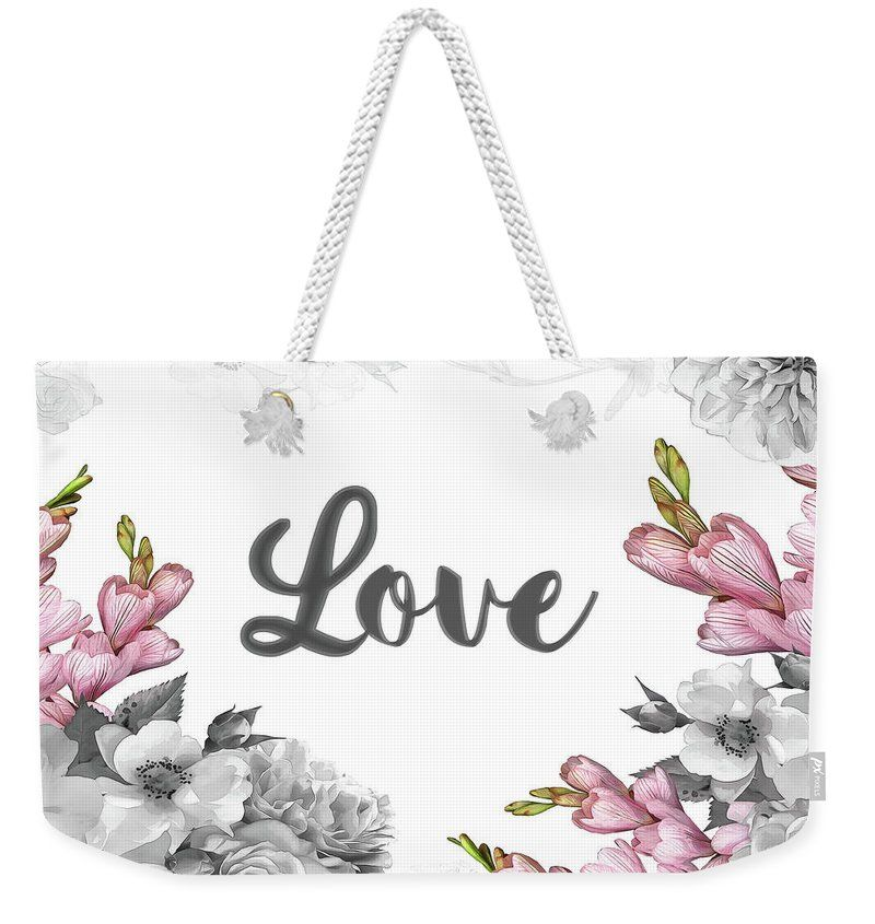 Floral Design Weekender Tote Bag For Sale By Donika Nikova Art