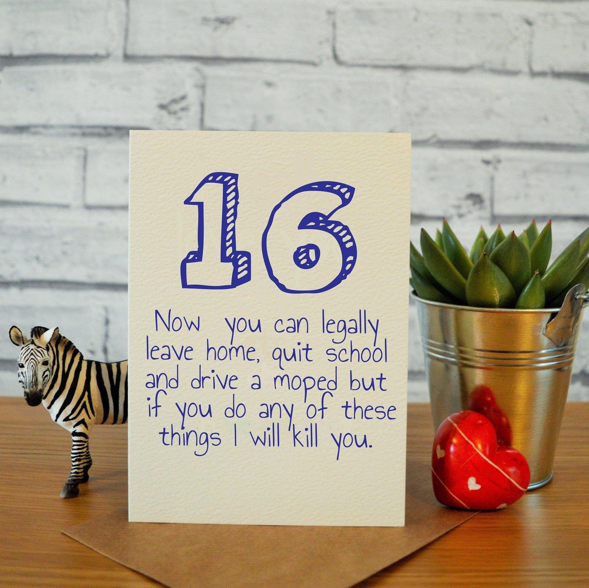 16th Birthday Card Son Funny 16th Birthday Card Brother 16th Birthday Card Son 16th Birthday Gift Brother 16th Birthday Gift Nephew 16 16th Birthday Card 16th Birthday Gifts Funny Birthday Cards