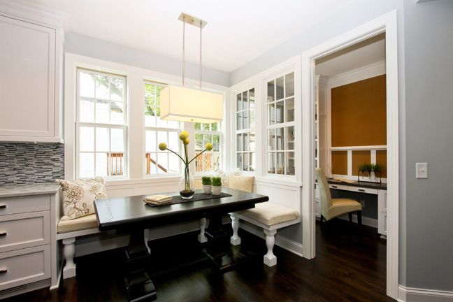 Using Interior Window Walls To Partition Off A Home Office You