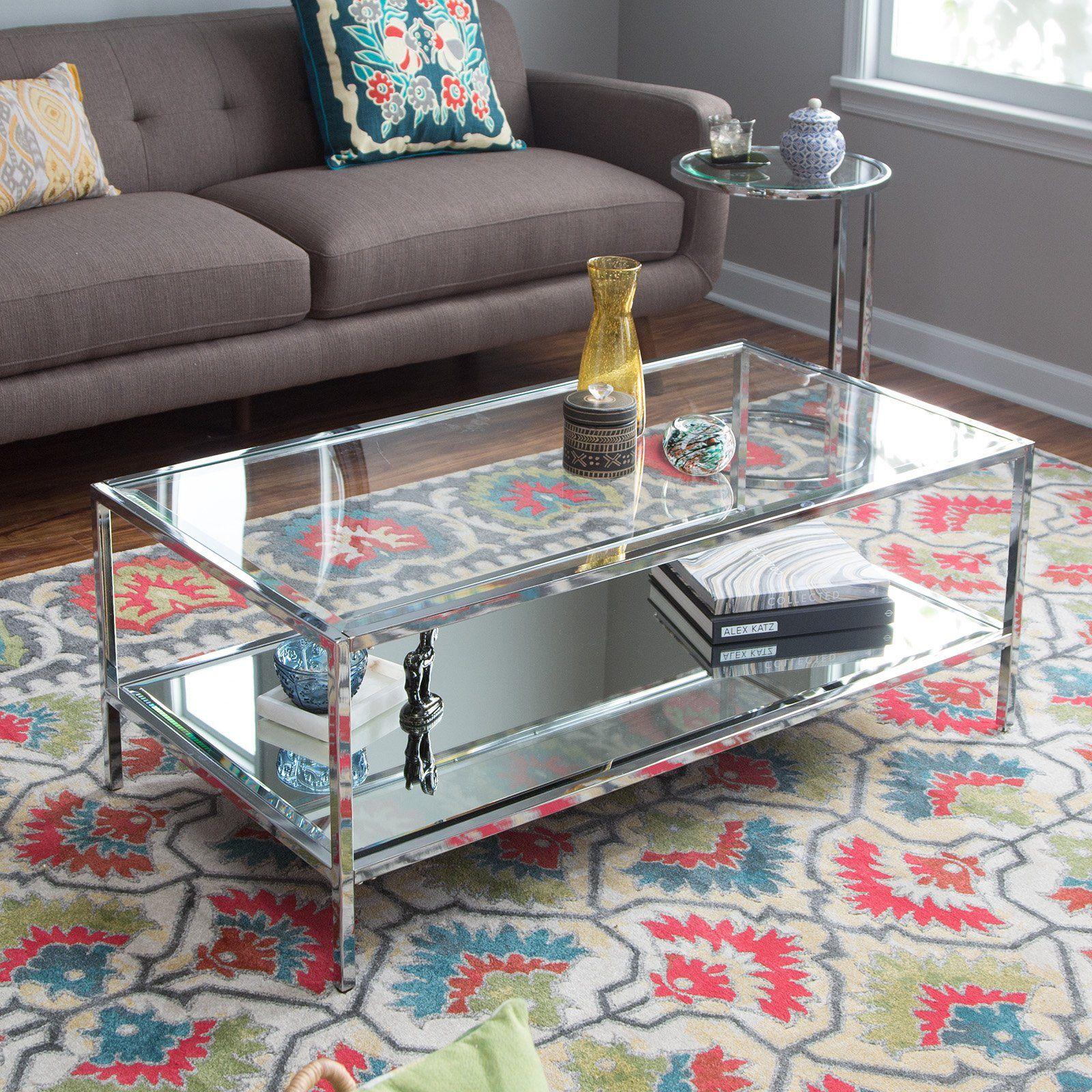 Belham Living Lamont Coffee Table Chrome From Hayneedle Com