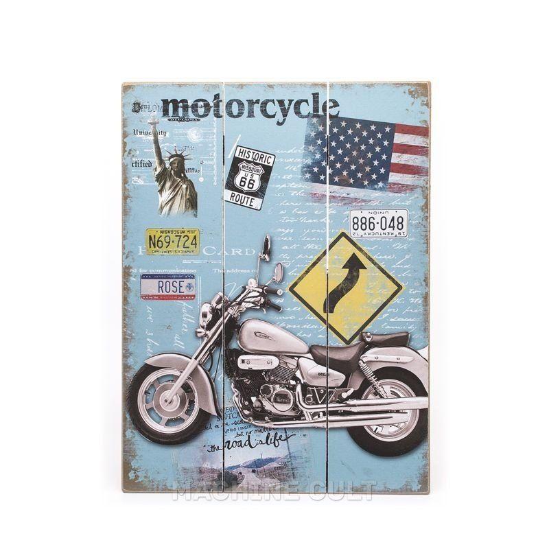 Placa Decorativa em Madeira - Vintage - Machine Cult | A loja das camisetas de carro e moto
