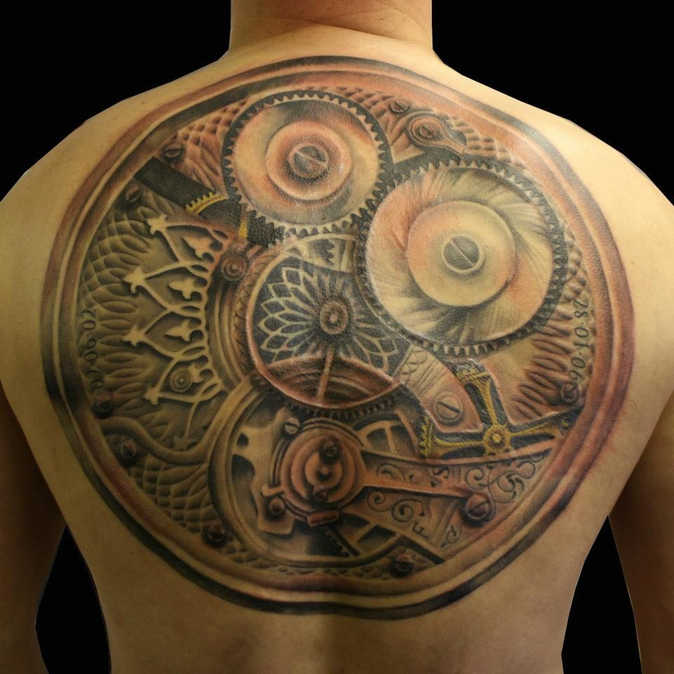 Steampunk back tattoo tattoos pinterest beautiful for What is steampunk design