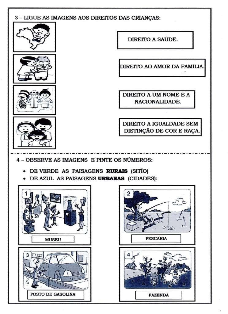 Avaliacao Historia Geografia E Ciencias Com Imagens Paisagem