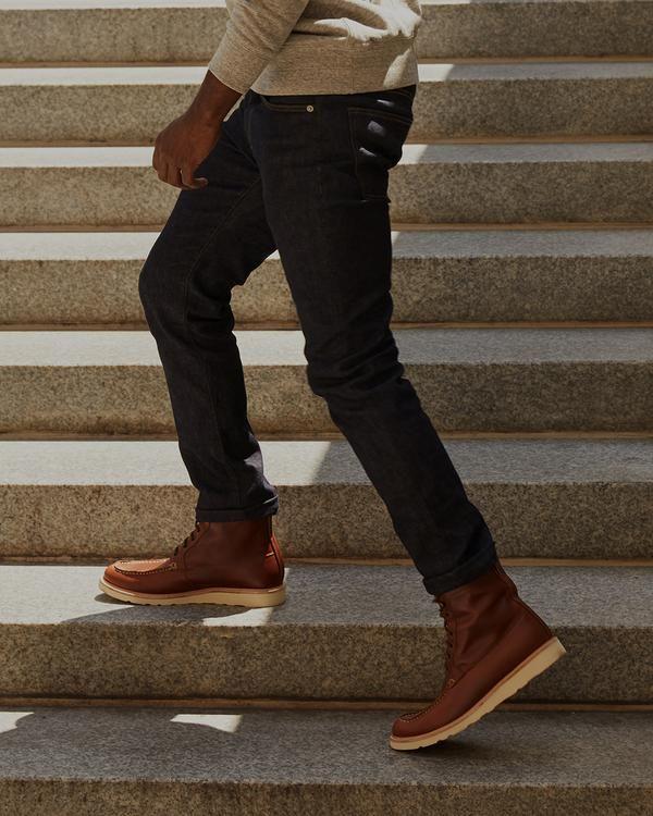mens leather moc toe boots