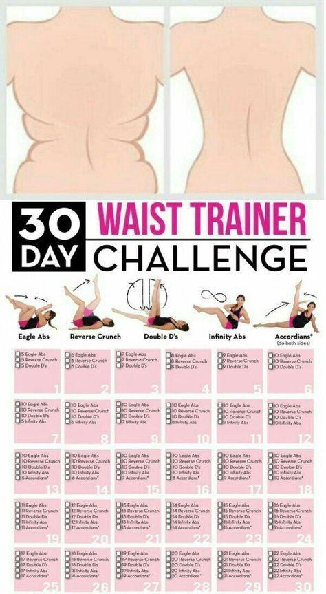 Waist workout from home   Calendar   Goodbye muffin top