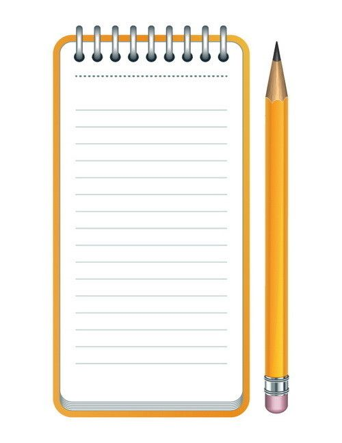 Lined Paper And Pencil Clip Art School Clipart Pinterest