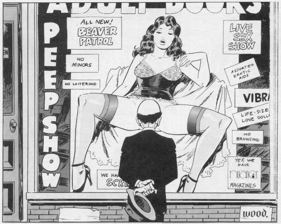 Erotic comic panels