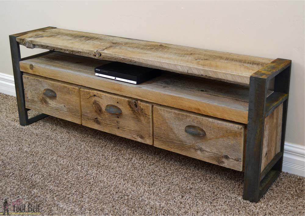 Rustic Media Console Table. Furniture ProjectsPallet ...
