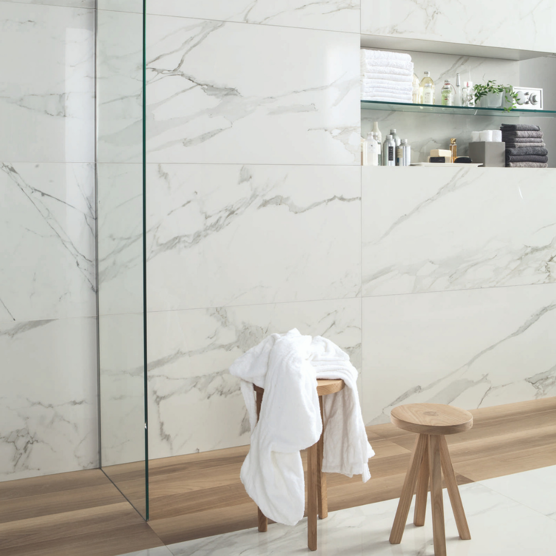 create matching floor and wall tile designs with luxury