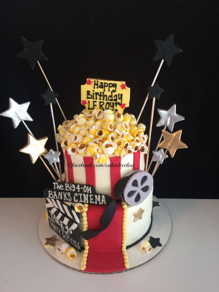 Superb 40Th Birthday Cake Movie Themes Birthday Cake Movie Cake Funny Birthday Cards Online Alyptdamsfinfo